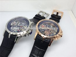 Wholesale Hollow Skeleton - AAA quality new fashion designer watches men hollow out skeleton top brand luxury watch mechanical wristwatch leather strap 201