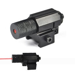 Wholesale Tactical Laser Light For Pistol - Free Shipping 5mw Tactical Red Dot Laser Sight For Hunting, Mini Red Laser Sight For Pistol, Windage and Elevation Adjustable.
