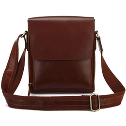Wholesale Shoulder Bags For Tablets - Wholesale-Vintage Genuine Cow Leather Shoulder Crossbody Bag for Men Classical Messenger Bag and Tablet Bag PR85