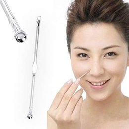 Wholesale Cosmetic Acne Treatment - Cosmetic Tool Silver Blackhead Comedone Acne Blemish Extractor Remover free shipping DHL