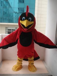 Wholesale Parrot Halloween Costume - Custom made High quality Parrot Cardinal Mascot Costume Characters Costume Halloween Kids Party Gift Dress.