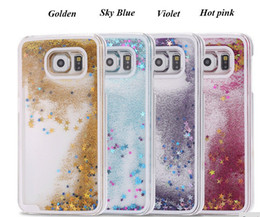 Wholesale S4 Hard Cases - Bling Stars Glitter Liquid Star Hard Clear cover case cases For Samsung Galaxy S4 S5 S6 edge Plus S7 Note4 Note5 100pcs 200pcs