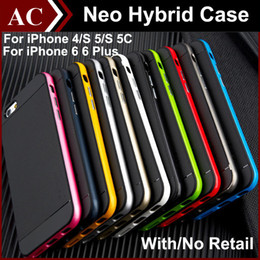 Wholesale Iphone 5s Armor Bumblebee - TPU & PC Hybrid Case For iPhone 4 5 5S 5C 6 6S Plus Bumblebee Armor TPU & PC Bumper Cover Shockproof Phone Back Skin 2 in 1 With Retail DHL