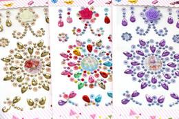 Wholesale Nursery Cars - Multicolor Flower Motif Acrylic Self-Adhesive Rhinestones Stickers Phone PC Car Art Decals Bags Beauty Decor DIY Accessories