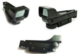 atrações combo Desconto Tactical Red Dot Sight Scope Ampla Vista Airgun w 10 ou 20mm Weaver Rail Monta 1x20x30 Riflescope Airsoft Frete Grátis