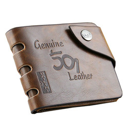 Wholesale Quality Photo Prints - Men's wallet brand quality leather zipper pockets cards holders 501 letters print antique purse wallets for men free shipping