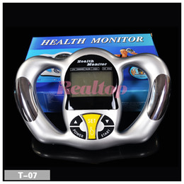 Wholesale Digital Weight Meter - Digital LCD Handheld BMI Tester Body Fat Monitor Health Analyzer Fat Ratio Meter Weight Monitor With 5 Fat Levels