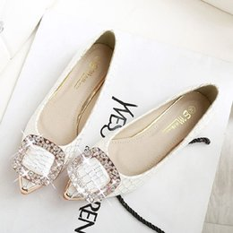 Wholesale Fall Wedding Tips - Spring 2016 Korean sweet comfortable flat with flat shoes 41-43 shoes casual shoes tip size tide