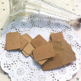 Wholesale Earrings Price Card - Wholesale-2.5*3.8CM Hot seller blank brown kraft paper price tags earring jewelry display cards 1000pcs lots free shipping