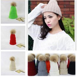 Wholesale Novelty Candy Free Shipping - Newest Brand Winter Hat Women's Candy Beanie Thicking Knitted Caps High Quality Cute Casual Crochet Hats Free Shipping 9 STYLES 01192