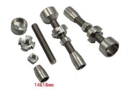 Wholesale Titanium Nail Vapor - 14mm & 18mm adjustable titanium nail , GR2 titanium nail 2 in 1 TITANIUM NAIL Titanium Domeless Nail Wax Oil NEW for vapor