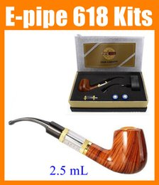 Wholesale E Smoke Set - E-pipe e Pipe 618 wooden electronic e cigarette cig Set Series smoking pipe style electronic smoking pipe Clearomizer ego starter kit TZ304