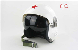 Wholesale Air Force Jet - Wholesale-Ajing White Helmet , Air force Jet Pilot flight Motorcycle helmet detachable Visor