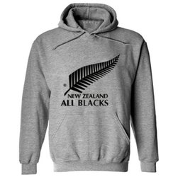 Wholesale Men Fashion Clothing Sport - 2016 new men brand New Zealand all black hoodies rugby jerseys sweatshirt male hooded sports clothing