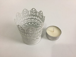 Wholesale Bar Vase - Wholesale Cheap White table centrepieces Mini Vase planter Wedding Candle Holder White iron candle holder SF-011