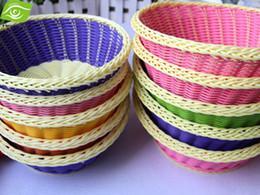 Wholesale Wholesale Fruit Baskets - Multifunctional 5pcs Lot Storage Baskets Large 26*8.5CM Plastic Weave Basket For Storage Fruit Basket,dandys