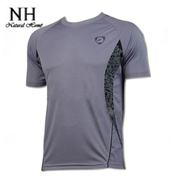 Wholesale Mens Outdoor Clothing Wholesale - Wholesale-4 colors o-neck male Quick Dry T shirts for mens outdoor sport Summer Tops Fit casual clothes new top selling