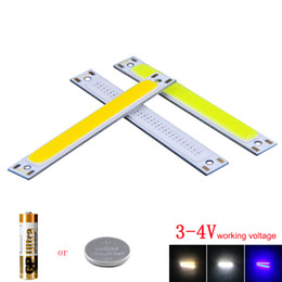 Wholesale led 8mm white - 60*8mm Blue White 3.7V COB LED Light Source Bulb 1W 3W Strip Lamp DC3-4V DIY Car Lighting House Work Lamps