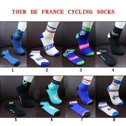 Wholesale Wholesale Fish Bowls - 2018 New Unisex pro team Cycling Socks High elasticity outdoor Sports Socks Breathable Bike Bicycle Riding Footwear Deodorization sh30