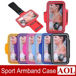 Wholesale Waterproof Cases For S3 - Universal Sport ArmBand Leather Case Solf Belt Arm Band Waterproof For iPhone 6   6 plus Samsung S3 S4 Note3 Note4