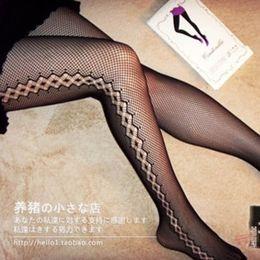 Wholesale Point Ring - Retro jacquard jacquard panty hose - Sexy fishnet stockings stockings socks socks are hollow - mesh side point