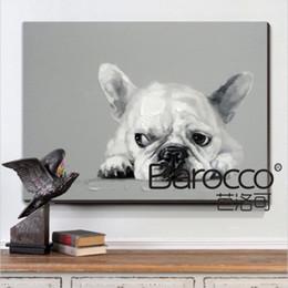 ölgemälde niedliches tier Rabatt Netter Hund kleiner Schmetterling handgemaltes tierisches Ölgemälde auf Leinwand moderne Hauptwanddekoration kein gestaltetes