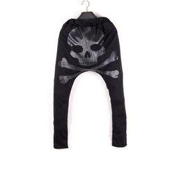 Wholesale Korean Sweats - Wholesale-Harem Sweatpants: New 2015 Fashion Korean Style Baggy Hip Hop Mens Jogger Pants Sarouel Drop Crotch Pants Trousers Sweats sport