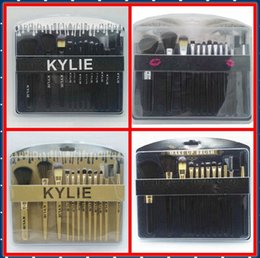 Wholesale Goat Black - HOTTEST NEW Kylie cosmetics Brushes Set 12 pieces Makeup Tools Makeup Brushes 4 style Free shipping+GIFT