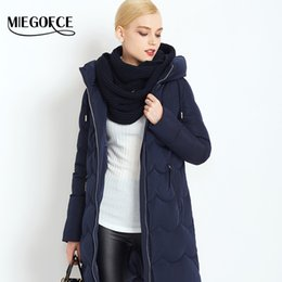 Wholesale Duck Collection - Wholesale- MIEGOFCE 2016 New Winter Collection Woman Down Parka with scarf Winter Warm Coat Winter Women Down Jacket high quality hot sale