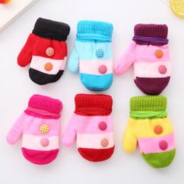 Wholesale Knitted Winter Mittens - 2017 new winter cartoon baby gloves, thickened cotton children knitting warmth mittens