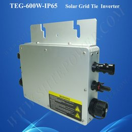Wholesale Waterproof Solar Grid Tie Inverter - NEW product 22-50VDC to 180-260VAC waterproof 24v 600w solar panel micro inverter grid tie for home use 600w