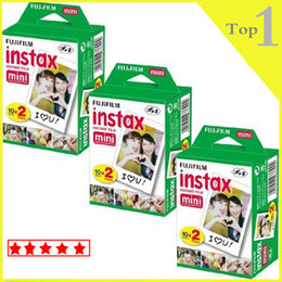 Wholesale Twins Cameras - 2016 Instax Mini Twin Pack Instant Film 20 Pcs  box Sheets White Film For Polaroid Instant Camera