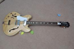 Wholesale Jazz Pickups - FFree shipping 2017 new empty heart jazz guitar VS genuine steel P90 pickups Left handed electric guitar