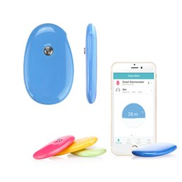 Wholesale Baby Thermometer - US Stock! Smart Baby Thermometer Children Electronic Skin Intelligent Bluetooth Digital Wireless APP Temperature Sensor Humidity