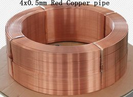 Wholesale Refrigerator Tube - 4x0.5mm Red Copper pipe T2 pure copper Refrigerator tube Gas pipe