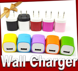 Wholesale Iphone Cable Colorful - usb power retail packaging adapter cable Colorful US Plug USB Wall Charger for iphone 6 plus galaxy S6 edge wall charger free shipping