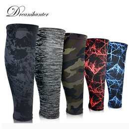 Wholesale Knee Support Leggings - Wholesale- 1 pcs Sports calf support leggings breathable pressure knee pads Basketball elastic warm legs Base Layer Compression Shin Guard
