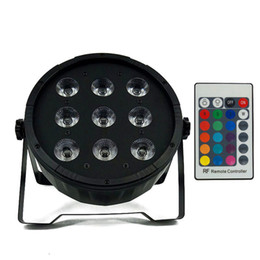 Argentina Control remoto inalámbrico LED Par CREE 9x12W 4in1 RGBW Led Stage Light LED Flat SlimPar Quad Can Con DMX512 Flat DJParty Suministro