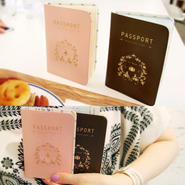 Wholesale Passport Protector Cover - Travel Utility Simple Passport ID Card Cover Holder Case Protector Skin PVC Fashion Accessories Drop Shipping BG-0433