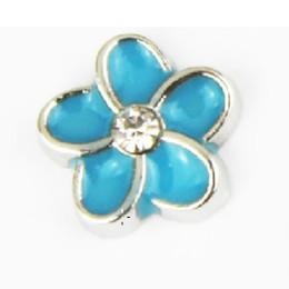 Heiße verkaufende Blume des Bergkristalls 20pcs / lot, die Charmeemailcharme für lebende Medaillons schwimmt, geben das Einkaufen frei von Fabrikanten