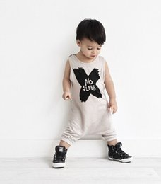 Wholesale Sleeping Rompers For Baby - Baby Boys Clothes Rompers NO SLEEP Infant Girls Romper Cotton Modal knitted For Children 2016 NEW Newborn Jumpsuit Clothing