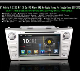 """Wholesale Camry Dash - 8"""" Android 4.4 Wifi 3G Car DVD Player GPS Nav Radio Stereo for Toyota Camry 2007-2010 Free 8GB Card SCYF0366"""