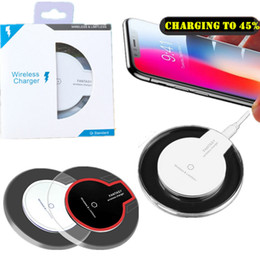 Qi cargador s6 inalámbrico online-30 unids Cargador inalámbrico Qi Cargador de teléfono Cargador inalámbrico Qi de lujo Cargador inalámbrico Mini para Samsung S6 S6 Edge iPhone 6 6 MÁS DHL