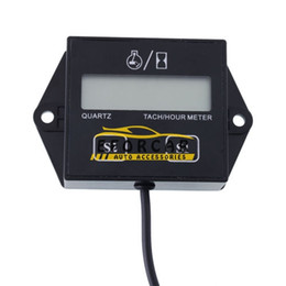 carro tacômetro Desconto Motocicleta LCD Digital Tachometer Hour Medidor Medidor 12v faísca tempos motor para Motorcycle Racing / carro / bicicleta / ATV