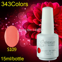 Wholesale Gel Polish Gelexus - Wholesale-Free Shipping 12pcs lot 15ml New Arrival Gelexus Soak Off UV Nail Gel Polish and Salon UV Gel Total 343 Fashion Colors