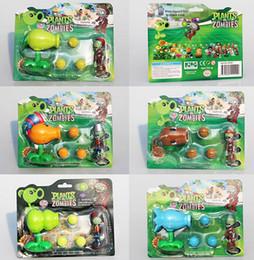 Wholesale Plants Zombies Figures Pvc - NEW PVZ Plants VS Zombies Figure Toy Coconut +Agriculture Gun Zombies Figures Toys Model Dolls Great Gift 5Styles Selectable