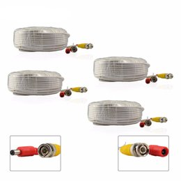 Wholesale Cord Cctv - 4PCS 100ft  30M Video DC Power Cable Cord for CCTV Security Camera DVR System