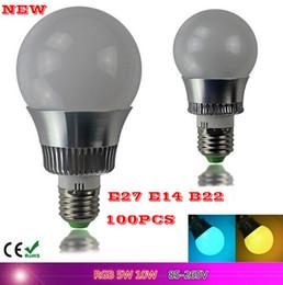 Wholesale Remote Control Bulb 16 Color - 100PCS LED RGB globe Bulb E27 5W 10W Remote Control Color Changing LED Wall Light Bulb RGB 16 Color Lamp AC 110V-240VV