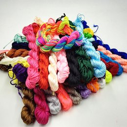 Wholesale Thread For Chinese Knotting - Wholesale-26M(1021 inch) Length & 1mm Diamter Chinese Knot Macrame String Wire Cord Thread for DIY Necklace Bracelet Braided String