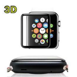 Película de vidrio templado de cubierta completa 3D para iWatch Reloj de Apple 38mm 42mm Serie 1 2 3 Película de protector de pantalla a prueba de explosiones con paquete comercial desde fabricantes
